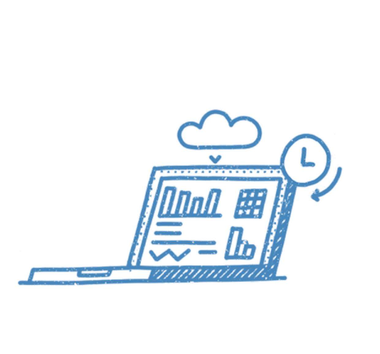 Laptop-cloud-process